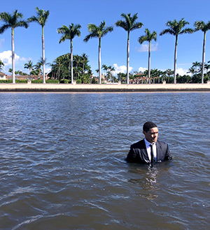 The Daily Show Trevor Noah in the water